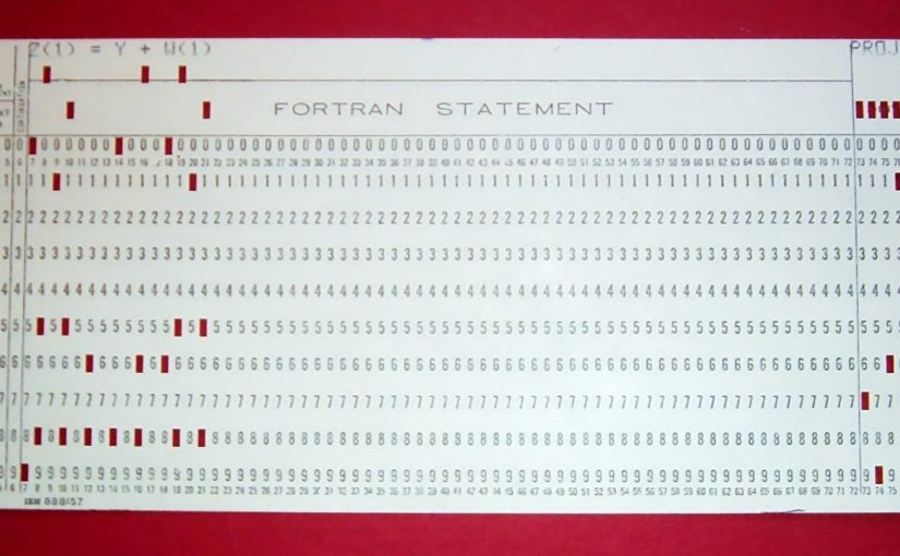 Punched card from a Fortran program.